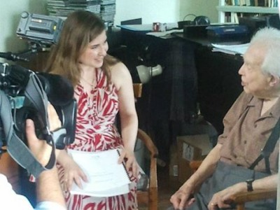 7-2012-Filming with Elliott Carter